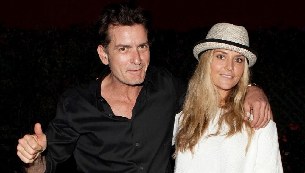 TOK GREP: Charlie Sheen betalte lørdag morgen nesten 65.000 norske kroner for å få sin eks-kone, Brooke Mueller, ut av fengsel. Foto: All Over Press