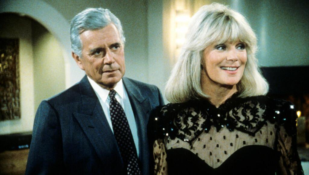 MISTET MOTSPILLEREN: Linda Evans' gode venn og motspiller fra Dynastiet, John Forsythe, døde i fjor. Foto: All Over Press