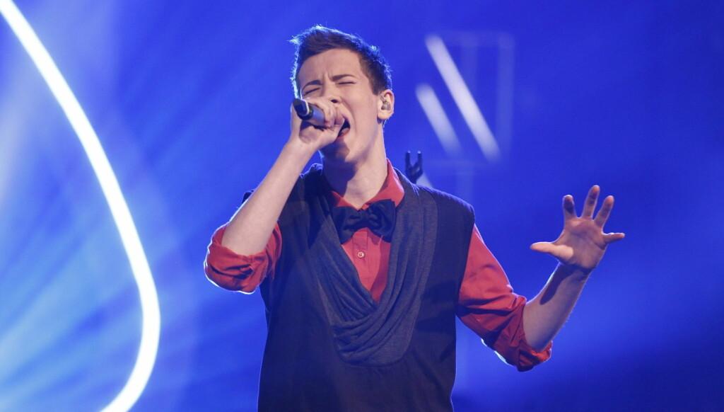 FAME: I kveldens femte delfinale hadde Henrik valgt å synge «Fame» fra filmen med samme navn.  Foto: Stella Pictures