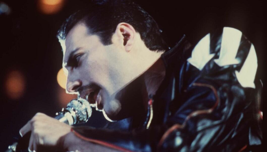FRONTFIGUR: Freddie Mercury var frontfiguren i rockegruppa «Queen», og samarbeidet tett med Michael Jackson på 80-tallet. Har fra 1984. Foto: Stella Pictures
