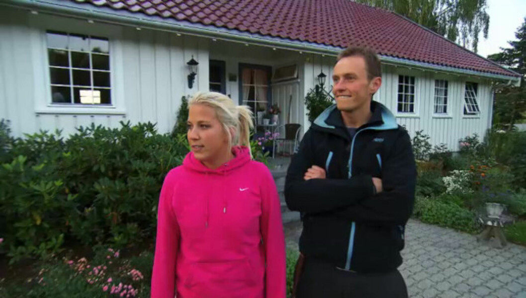 OVERLEVDE VED ET MIRAKEL: Mariann Sætre, her med Jakten-bonde Sveion Bøylestad (27), var klinisk død og lå i respirator i en hel måned. Foto: TV 2
