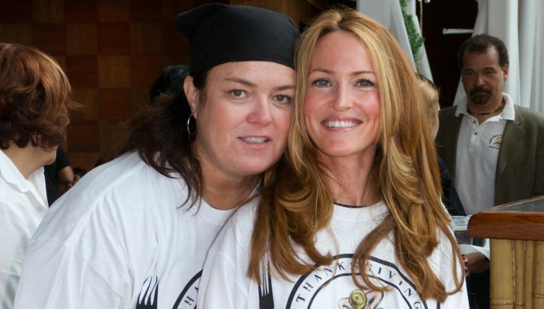 FORLOVET: Rosie O'Donnell og Michelle Rounds. Foto: All Over Press