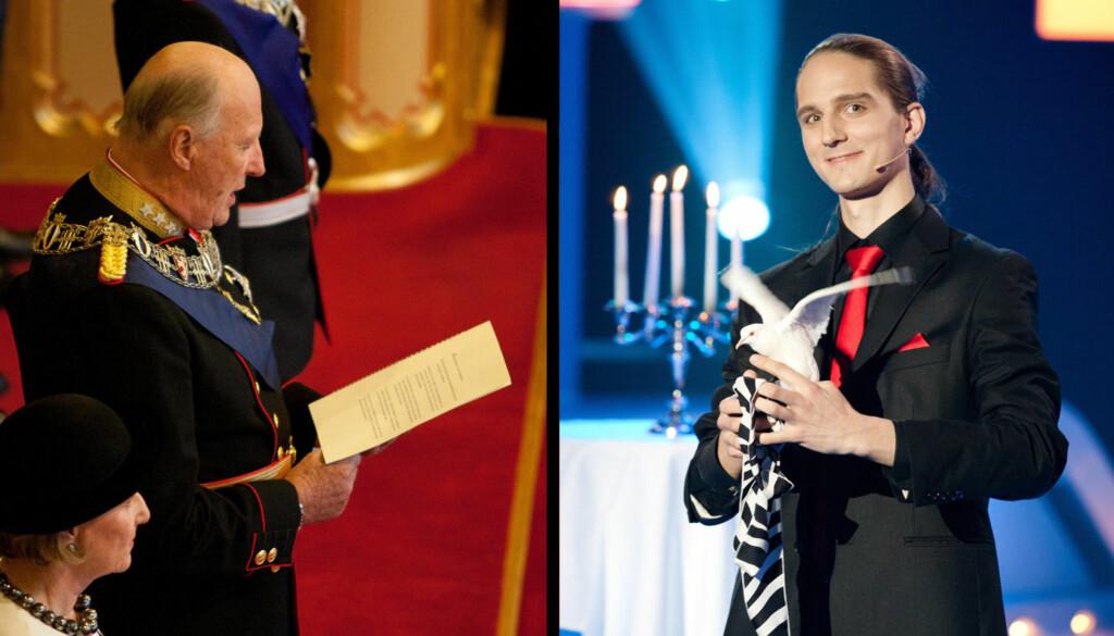 HOFFNARR: Tryllekunstner Hans Henrik Verpe søkte om jobb som hoffnarr hos Kong Harald.  Foto: Stella Pictures