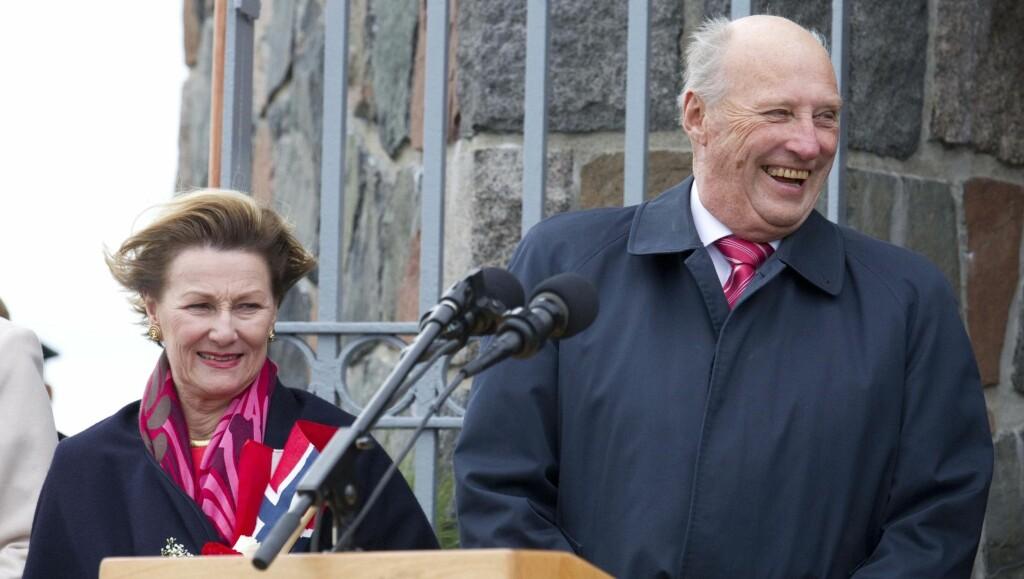 PÅ FERIE: Kong Harald reiser på et privat utenlandsopphold. Foto: Julian Parker/UK Press Ltd