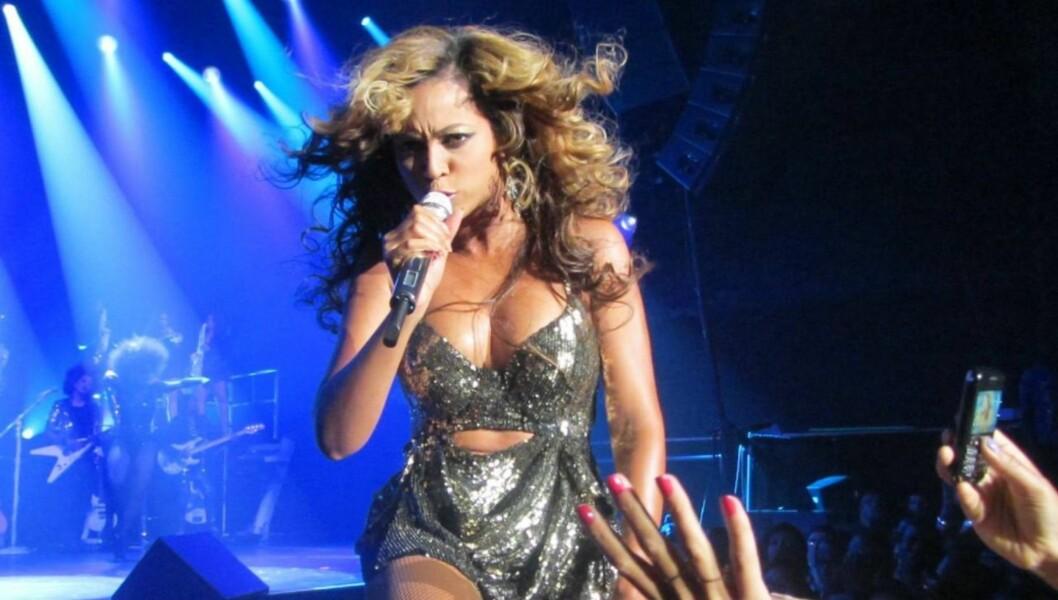 KNALLHARD OPPTREDEN: - Det var tøft å gjøre all koreografien og synge på samme tid, mener Beyonce Knowles, som bare uker etter dette bildet ble tatt avslørte at hun er gravid. Foto: All Over Press