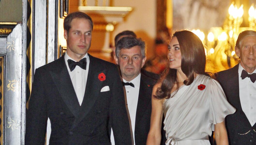 INNSAMLINGSAKSJON: Prins William og hertuginne Kate holdt torsdag kveld middag på St James's Palace til inntekt for minnesenter for veteraner. Foto: Stella Pictures
