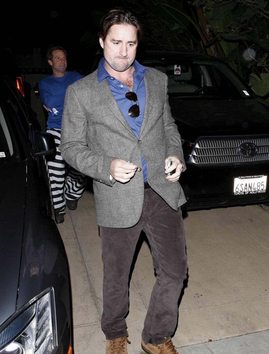 «VICE COP»: Skuespiller Luke Wilson hadde kledd seg ut som en «Vice Cop». Foto: All Over Press