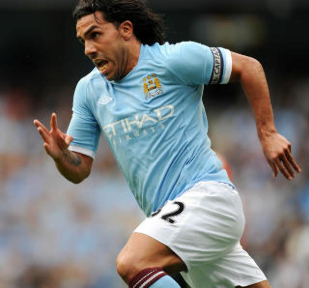 <strong>SERIEÅPNER MOT SPURS:</strong> Tevez fikk utvidet VM-fri og har bare spilt en drøy halvtime fotball for Manchester City i sommer, mot Valencia. Foto: AFP/ADRIAN DENNIS