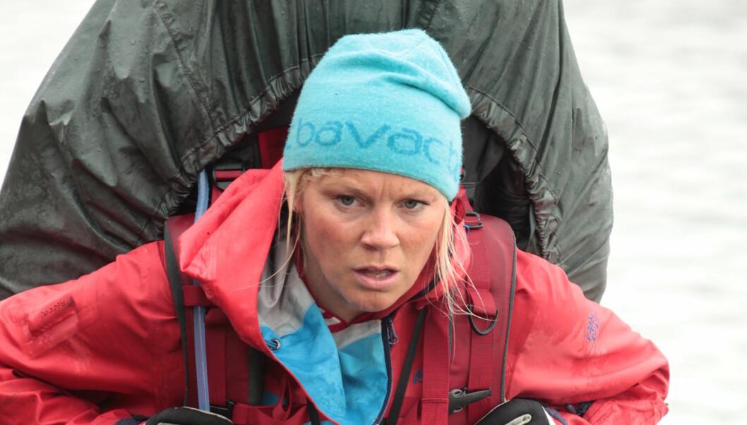 MERKET: Hilde Winther ble merket i mandagens episode av 71 grader nord. Neste mandag må hun ut i duell for å unngå hjemsendelse. Foto: Matti Bernitz / TVNorge