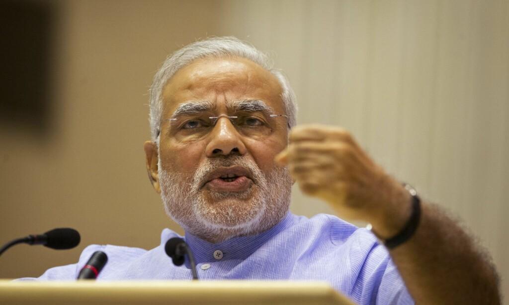 INDIAS STATSMINISTER: Narendra Modi. Foto: AP Photo/Saurabh Das/NTB Scanpix