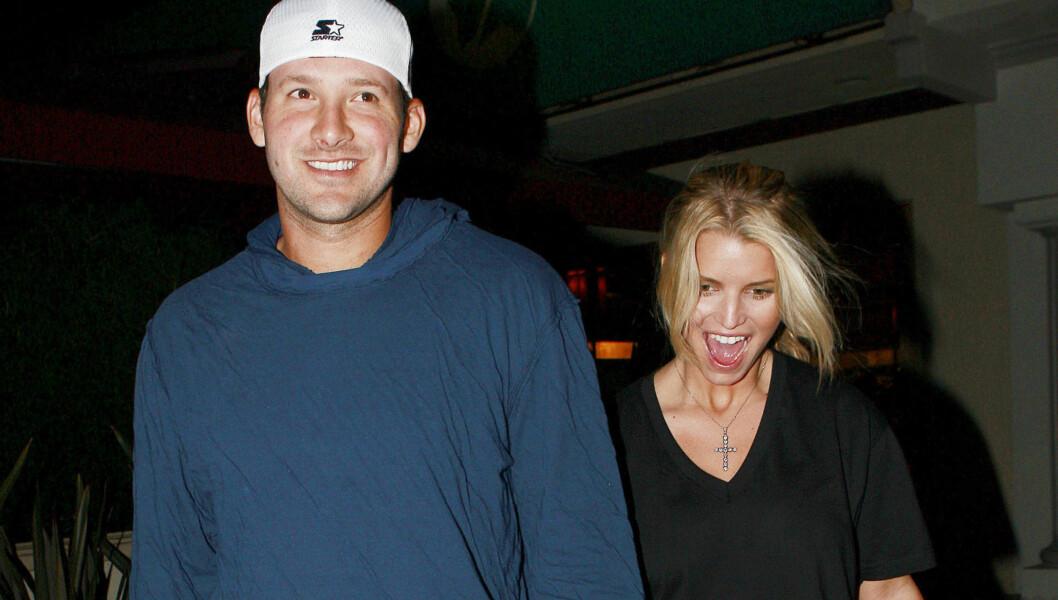 TIDLIGERE PAR: Tony Romo var sammen med superstjernen Jessica Simpson i to år. Foto: Stella Pictures