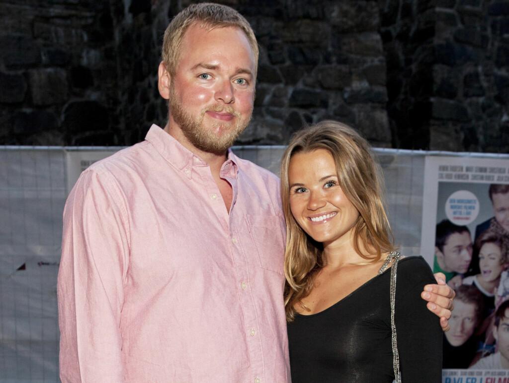 LYKKELIGE OMSTENDIGHETER: NRK-paret Tore Sagen og Live Nelvik blir foreldre for første gang til våren. Foto: Espen Solli/Se og Hør