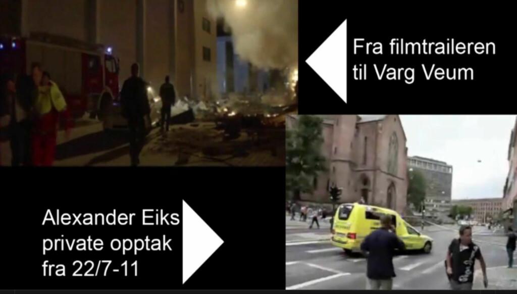 LIKT: Se videoen nederst i saken, og sjekk hvor lik filmen er virkeligheten.