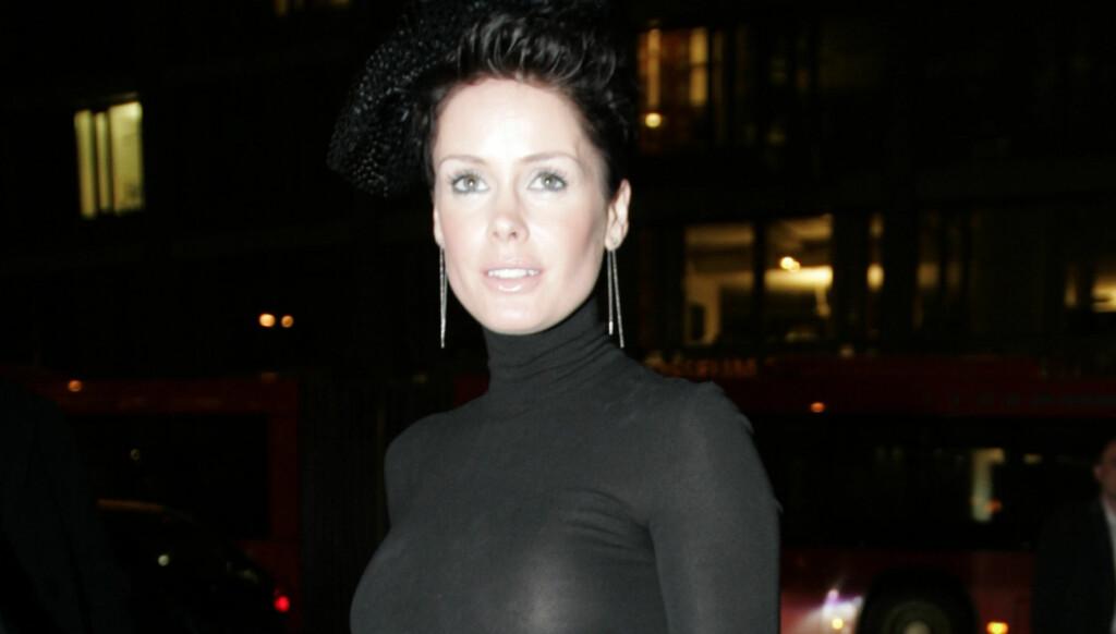 SVART: Aqua-Lene kler seg ofte i svart, og eksens bryllup var intet unntak. Her fra kinopremiere i Oslo i 2008. Foto: STELLA PICTURES
