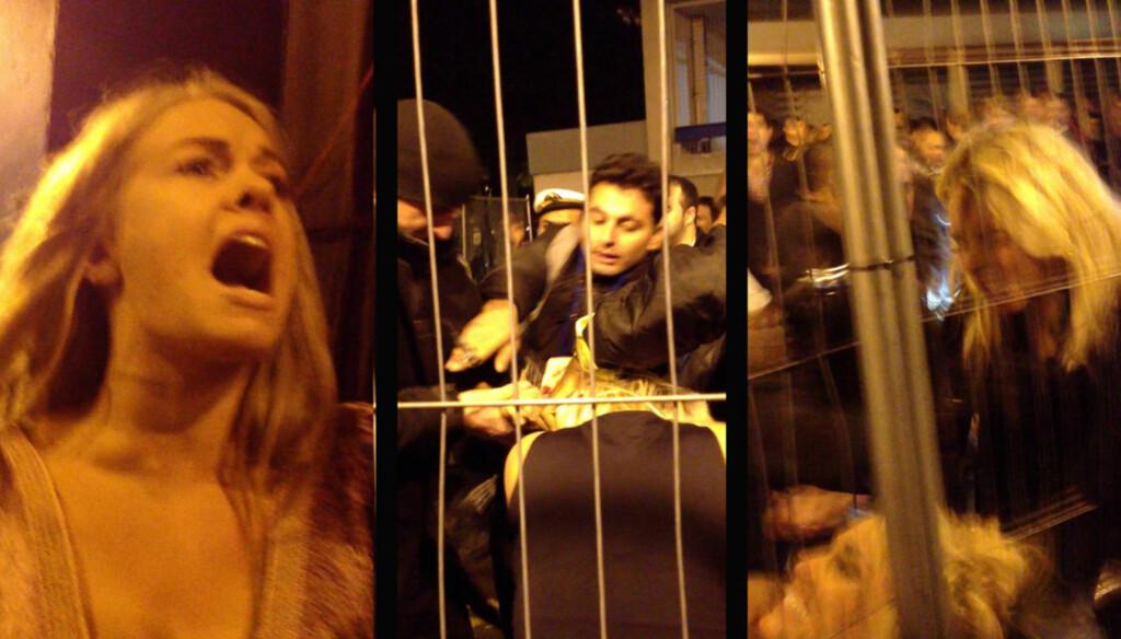 BLE ANGREPET: Den britiske TV-stjernen Sam Faiers (t.v.) ble lørdag vitne til at storesøsteren Billie (nederst i bildet til høyre) ble angrepet av en jentegjeng. Senere samme kveld ble hun selv slått til blods av den samme gjengen. Blildene er fra en  Foto: YouTube