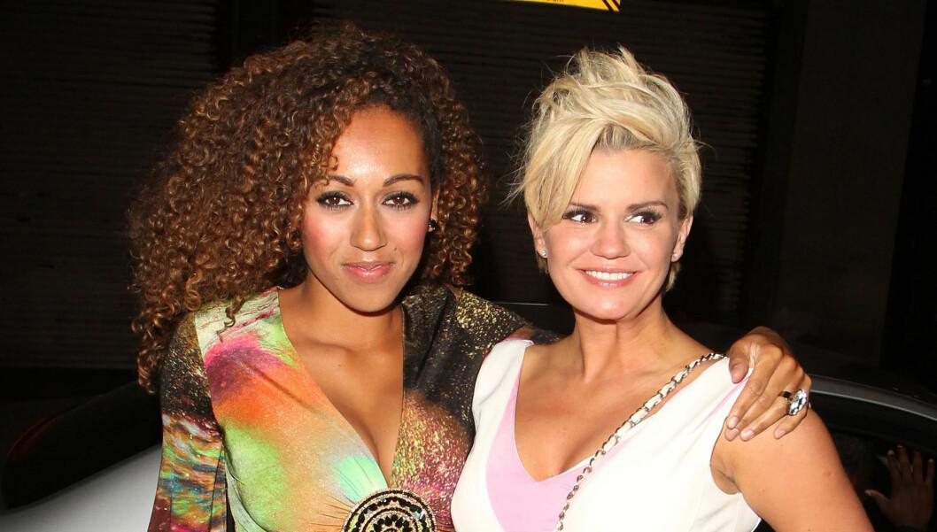 GLATT: Kerry Katona, her sammen med venninnen Danielle Brown, er fan av botox. Foto: Stella Pictures