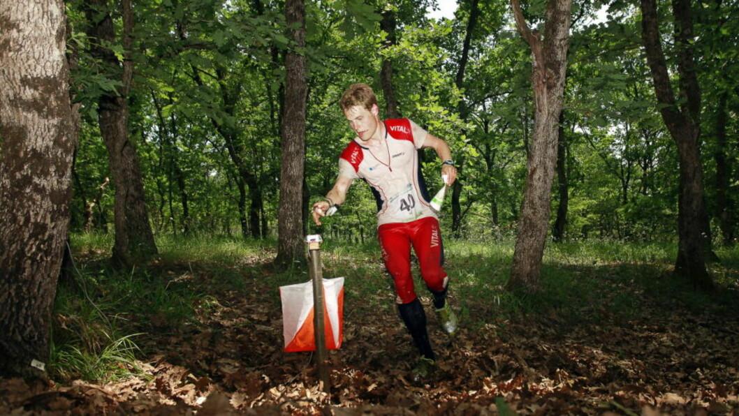 VANT MED SEKS SEKUNDER: Carl Waalar Kaas avgjorde orienteringsthriller til sin fordel.   Foto: SØREN ANDERSSON / SCANPIX