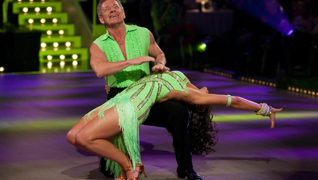 UTE AV DANSEN: Olga og Rune danset seg ut i kveld.  Foto: Stella Pictures