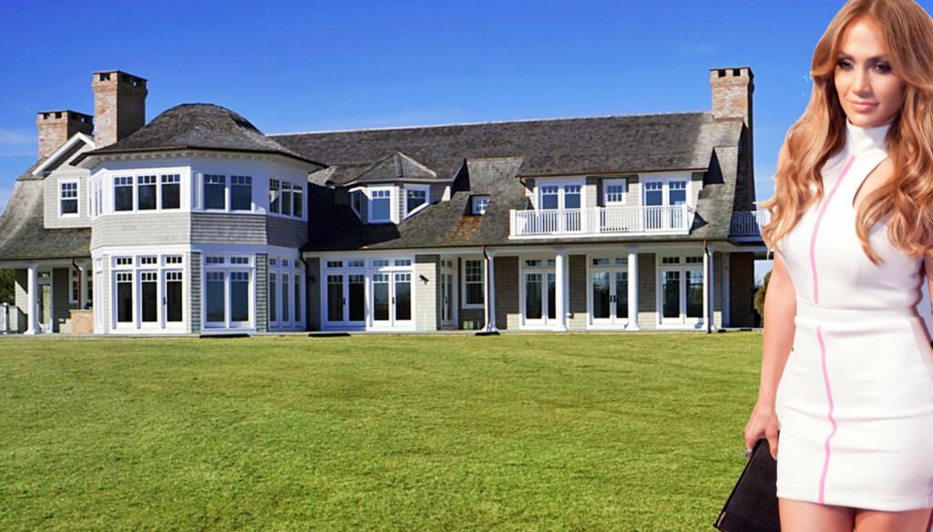 VAKKERT: Jennifer Lopez har kjøpt seg et nytt sted å bo. Nå flytter hun til Hamptons-området utenfor New York.  Foto: Stella Pictures/All over/Fotomontasje Seher.no