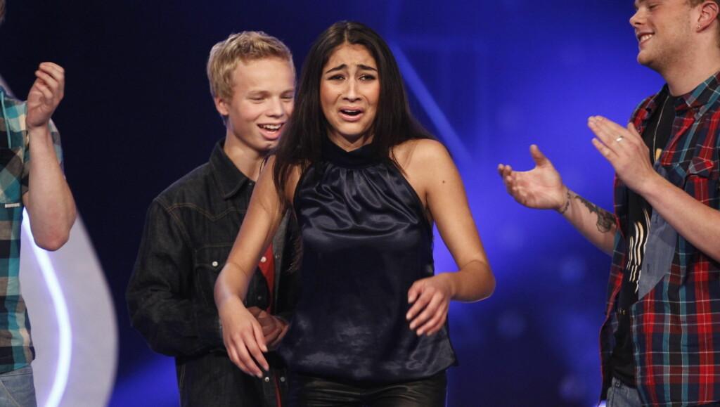 BRAST I GRÅT: Bianca Skoglie Lal begynte å gråte da hun gikk videre i Idol. Foto: Stella Pictures