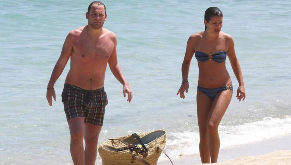 SISTE FERIE: Lea og Theo var på kjærlighetsferie på Hawaii i juli, da det fremdeles var hett mellom de to skuespillerene. Foto: All Over Press