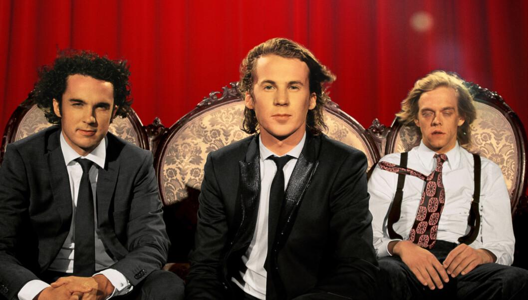 """<strong>STUNT-REPORTER:</strong> Calle Hellevang-Larsen er Ylvis-brødrenes stunt-reporter i """"I kveld med Ylvis"""". Showet hadde premiere mandag kveld.  Foto: TVNorge"""