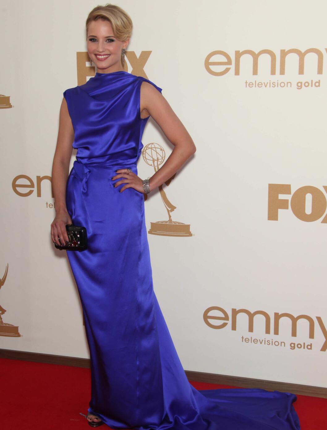 <strong>SMILTE:</strong> Dianna Agron i en kjole fra Rocksanda Ilincic. Foto: Stella Pictures