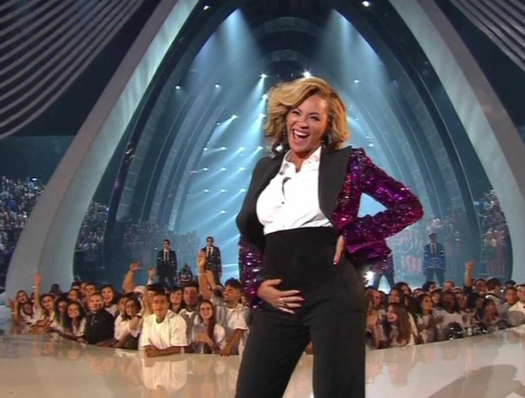 <strong>AVSLØRT:</strong> Det var under årets MTV Video Music Awards i august at Beyoncé offentliggjorde graviditeten for fansen verden over.  Foto: All Over Press