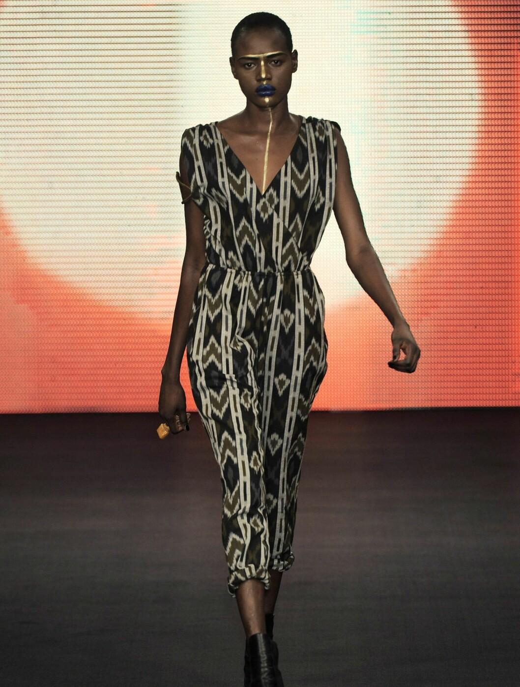 ETNISK: Flere av plaggene i kolleksjonen virker tydleig inspirert av Beyoncés afrikanske røtter.  Foto: All Over Press