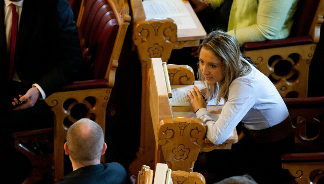 TILBAKE PÅ JOBB: Mette Hanekamhaug under åpningen av det 156. Storting. Foto: Stella Pictures
