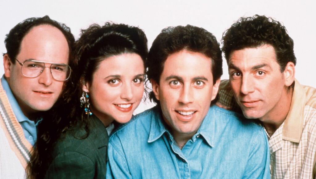 POPULÆRE: Frances Bay er kanskje mest kjent i rollen som den sure gamle damen som spilte mot Jerry Seinfeld (andre fra høyre).  Foto: Stella Pictures