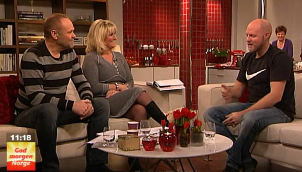 SKRØT AV SEG SELV: I forbindelse med lanseringen av sin serie på TV 2, ble Kristoffer Clausen blant annet intervjuet i «God Morgen Norge». Heller ikke her nevnte han at han hadde avbrutt oppholdet sitt i villmarken. Foto: TV 2