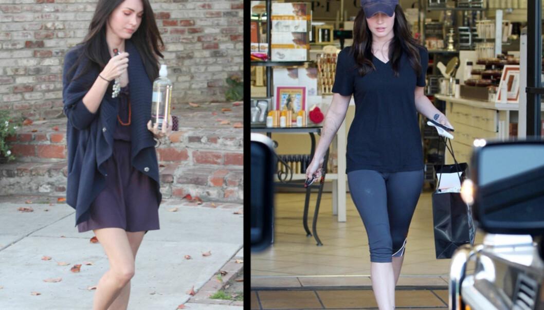 <strong>FØR/NÅ:</strong> Det er lett å se at Megan Fox har blitt mer formfull etter at hun ga opp å være veganer. Foto: All Over Press / Stella Pictures