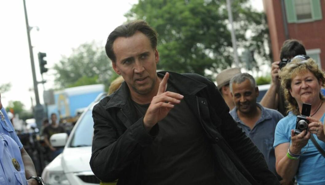 BLE VEKKET AV NAKEN MANN: Nicolas Cage fikk sjokk da han i 2007 våknet og så en naken og is-spisende mann på soverommet, som stirret på filmstjernen og hans kone. Foto: All Over Press