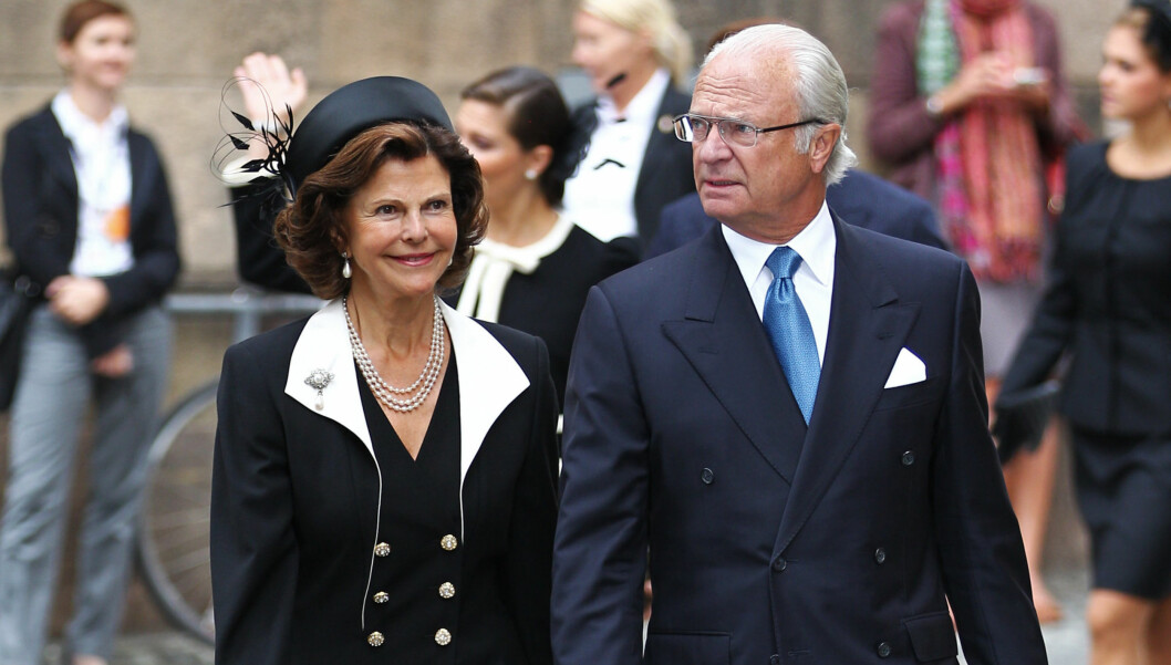 Stockholm, Sweden, September 15, 2011.  Today the Swedish Parliament was traditionally opened in the presence of the royal family.  Picture shows:  Queen Silvia and King Carl XVI Gustaf Photo: Robert Eklund Code: 2092 COPYRIGHT STELLA PICTURES Foto: Stella Pictures