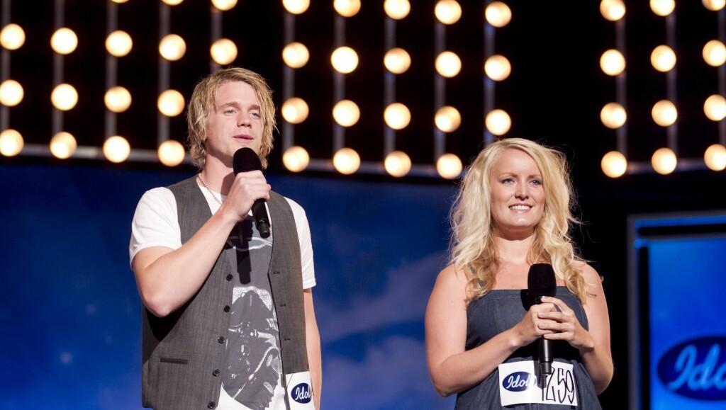 FIKK SKRYT: Maria Mohn har fått mye skryt for sin innsats på Idol-scenen. Her synger hun duett med Stian Dalen under de første auditionrundene. Foto: TV 2