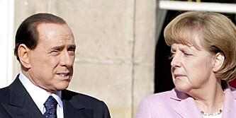Sex-sjikanerte Angela Merkel på telefon