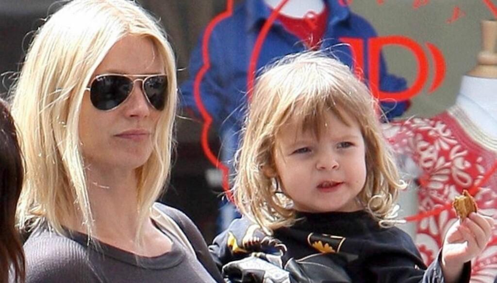 REDDET LIV: Gwyneth Paltrow - som er mor til datteren Apple og sønnen Moses - har ikke glemt møtet med kvinnen som takker henne for livet den 11. september 2001. Foto: All Over Press
