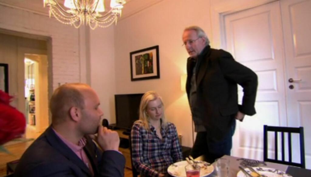 - INGEN PROBLEMER: Til tross for at de knapt spiste middager sammen før Eyvind Hellstrøm kom på besøk i programmet «Hellstrøm rydder opp hjemme», hevder Mari Viggen det ikke var noen problemer i forholdet til samboeren Simen Sommerstad, slik TV-bil Foto: TV3