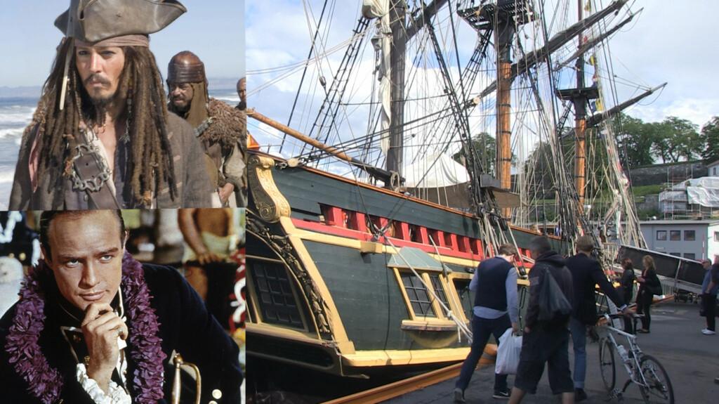 STJERNESKIP: Skipet «Bounty» har vært med i store Hollywood-filmer som «Pirates of the Caribbean» og «Mytteriet på Bounty». Nå ligger det berømte skipet ved kai i Oslo.  Foto: All Over Press/Seher.no