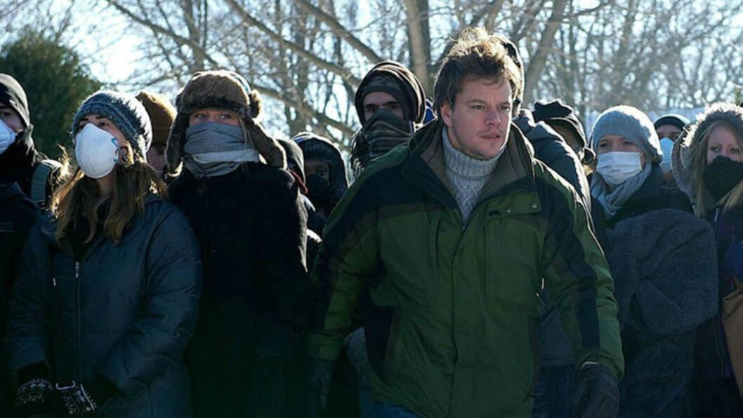 LITE KREVENDE: Kritikerroste Matt Damon syntes det var som barnemat å regne å spille inn «Contagion» - en thriller om et dødelig, ukjent virus som utsletter millioner av mennesker. Her er han avbildet i en scene fra filmen.   Foto: WARNER BROS/STELLA PICTURES