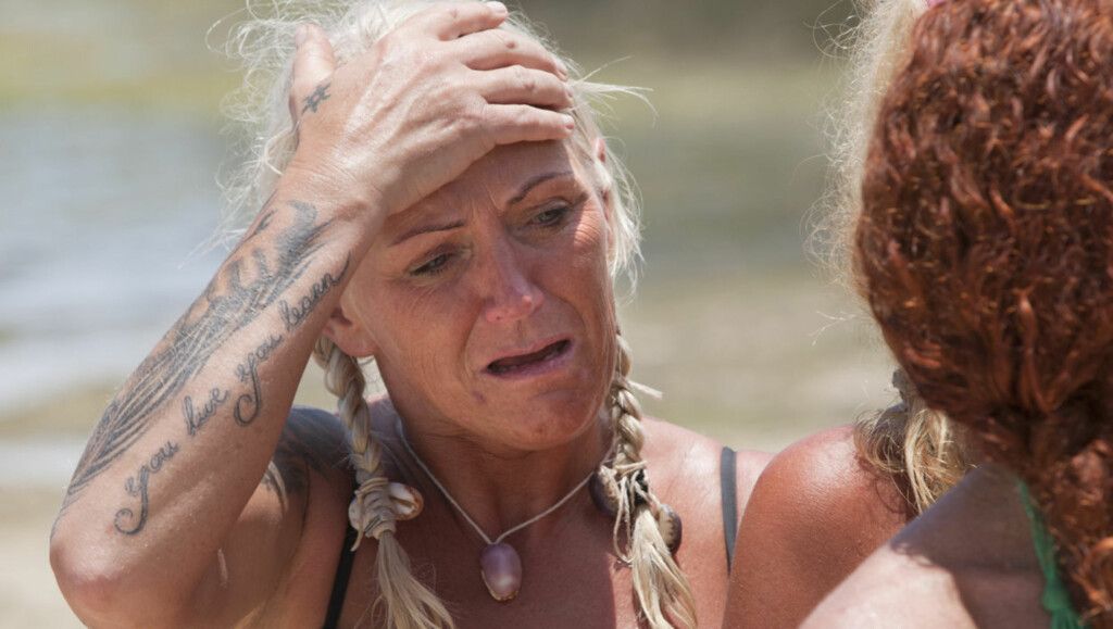 TØFF OPPLEVELSE: Anita Svensson sier til Seher.no at hun flere ganger følte seg som en dårlig mor, etter at hun satte seg på flyet for å være med på årets Robinson-innspilling på Fillippinene. Foto: TV3