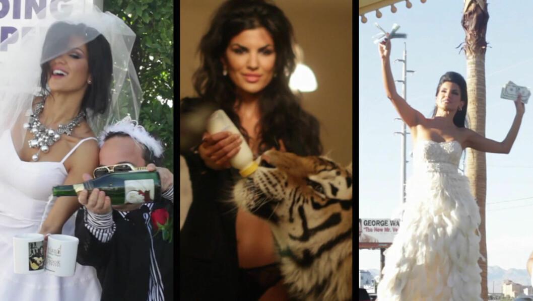 SVIDDE AV 25 000 DOLLAR: Bryllup, fotoshoot med en tiger og pokerspilling var bare noe av det Aylar Lie brukte pengene på da hun ble utfordret til å bruke 25 000 dollar på 12 timer av spillselskapet Betsson. Foto: Frederic Esnault