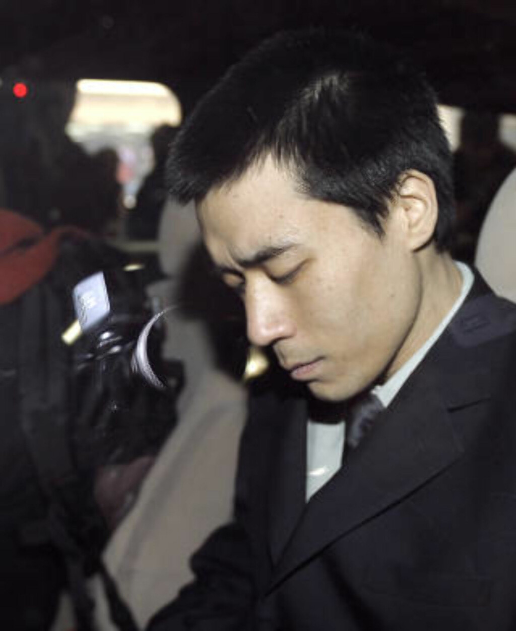 MISJONÆREN SATT FRI:  Den amerikanske misjonæren Robert Park ble løslatt fra fangenskap i Nord-Korea i februar i år. Bildet er fra 6. februar da han ankom flyplassen i Beijing i Kina. Foto: SCANPIX/AP Photo/Andy Wong