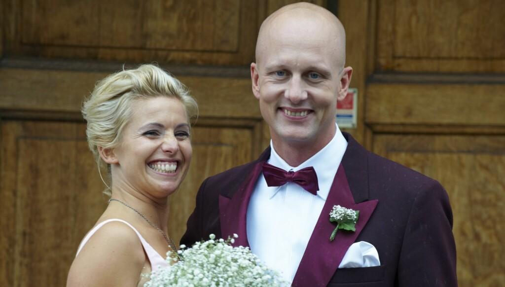 GIFTET SEG: Tina Norström og Martin Holmqvist har vært kjærester i 16. Nå har de giftet seg. Foto: Stella Pictures