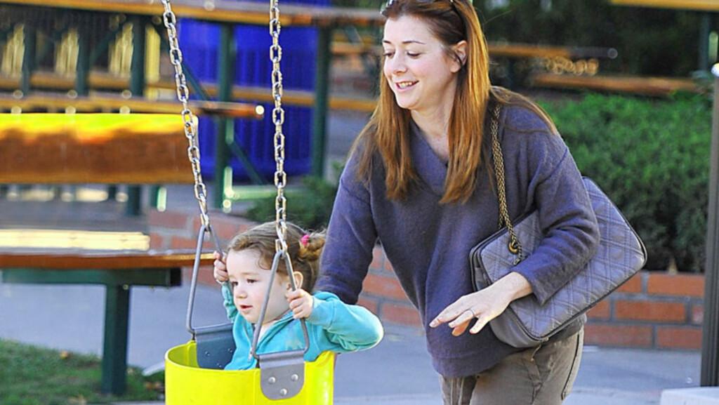 BABYMAGE?: Etter at skuespilleren viste seg forrige uke, begynte babyryktene å svirre. Foto: All Over Press