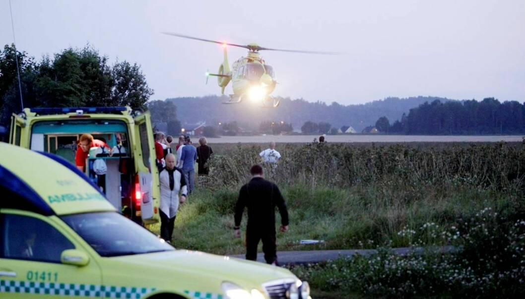 DØDE: Aksel hennies bror, Annan Forbes Hennie, omkom onsdag i en fallskjermulykke i Tønsberg Foto: SCANPIX
