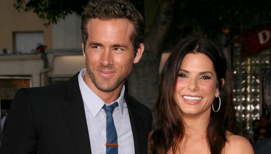 NYTT PAR?: Bladet Now skriver at Ryan Reynolds og Sandra Bullock har funnet lykken, etter mange år som nære venner. Foto: All Over Press