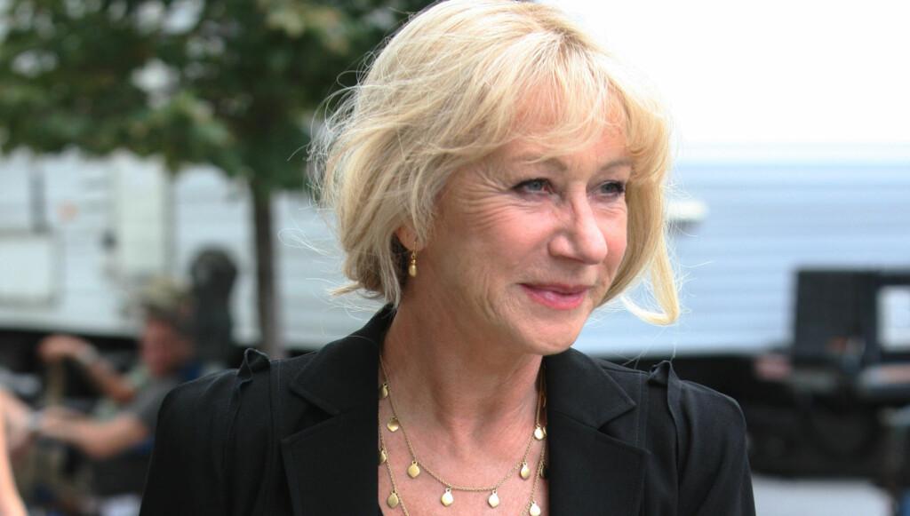 MOT UNØDIG KIRURGI: Den britiske skuespilleren Helen Mirren liker ikke at stadig yngre mennesker operer seg. Foto: All Over Press