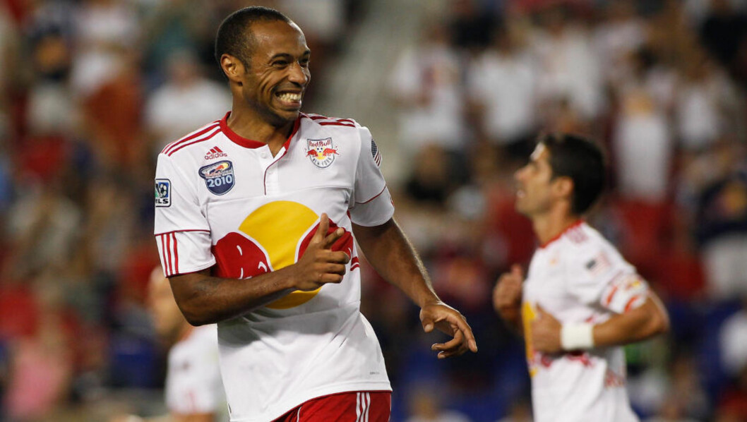 <strong>HÅR ÅPNET MÅLKONTOEN:</strong> Thierry Henry har scoret sitt første MLS-mål. Foto:  Mike Stobe/Getty Images for New York Red Bulls/AFP
